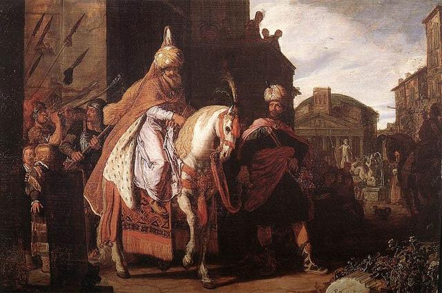 Триумф Мардохея. Питер Ластман. 1624