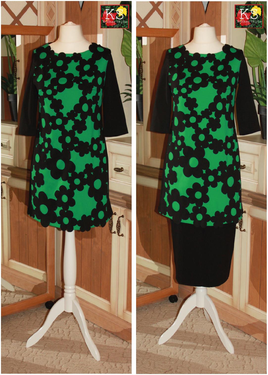 Как удлинить тунику до платья